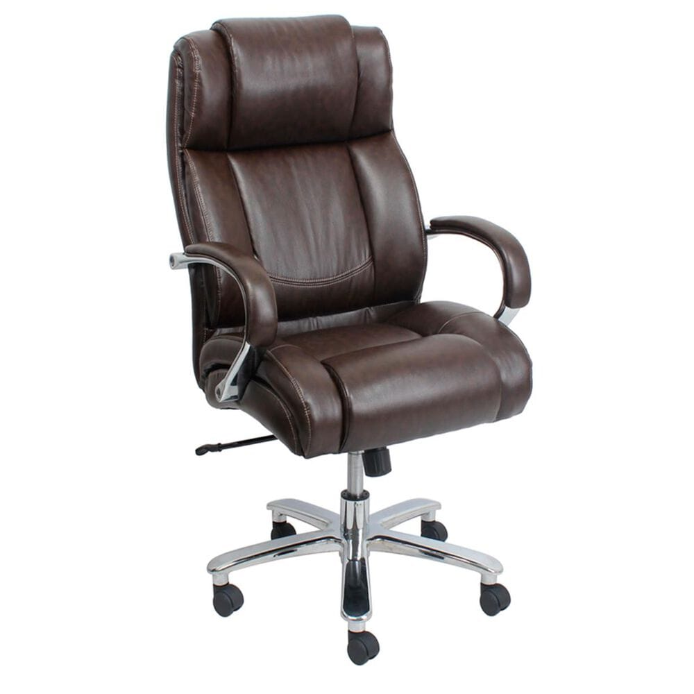 Global Seating Big and Tall Executive Chair in Chestnut Brown, , large
