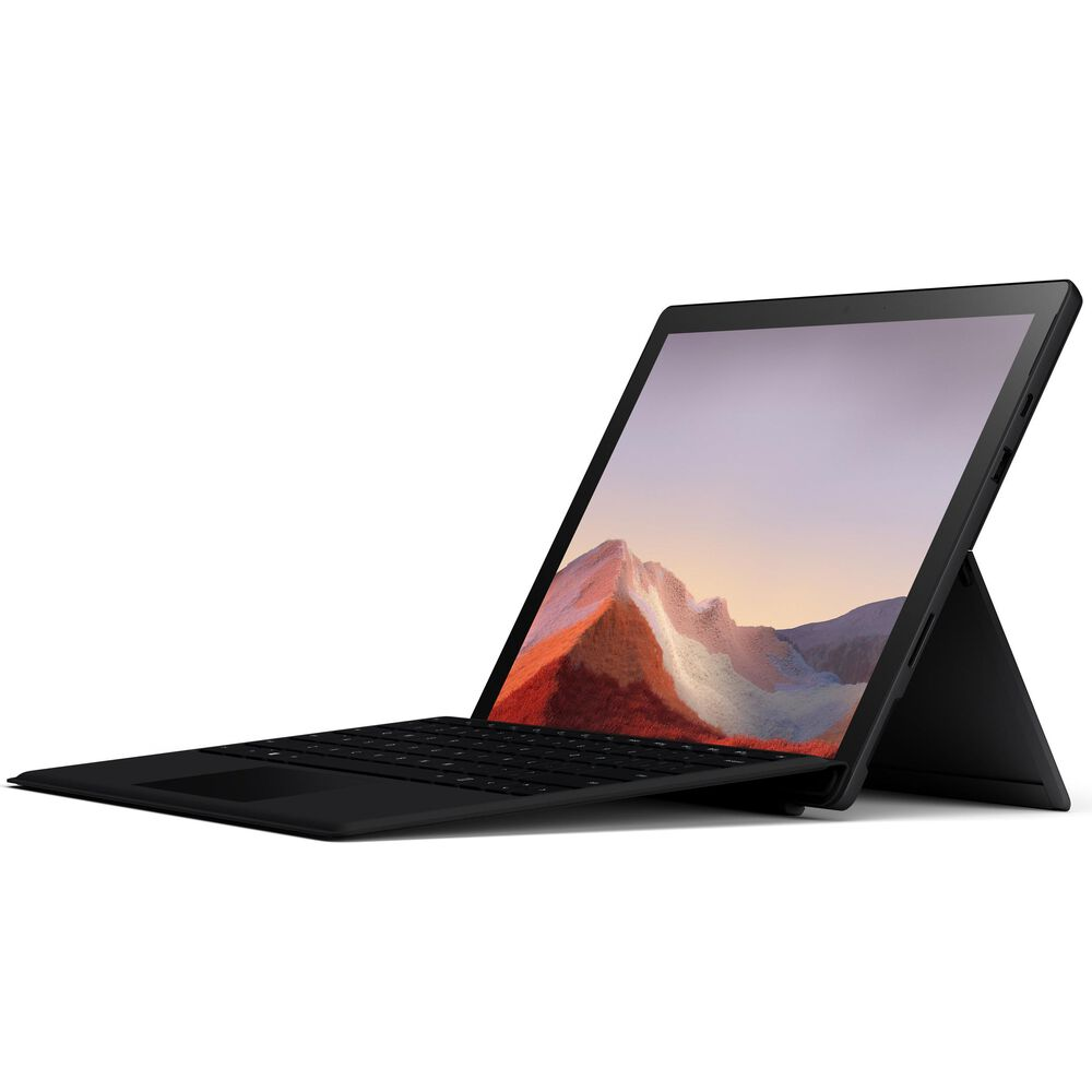 """Microsoft Surface Pro 7 - 12.3"""" Touch-Screen - Intel Core i5 - 8GB Memory - 256GB Solid State Drive (Latest Model)- Matte Black with Black Type Cover , , large"""
