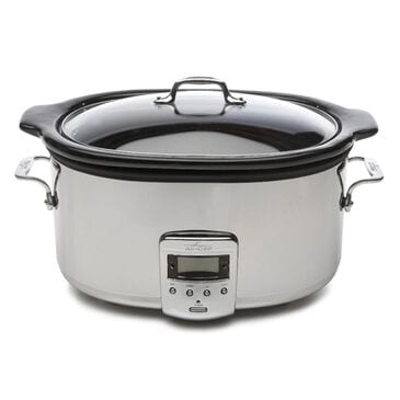 All-Clad Polished Stainless Steel 6.5-Quart Slow Cooker, , large