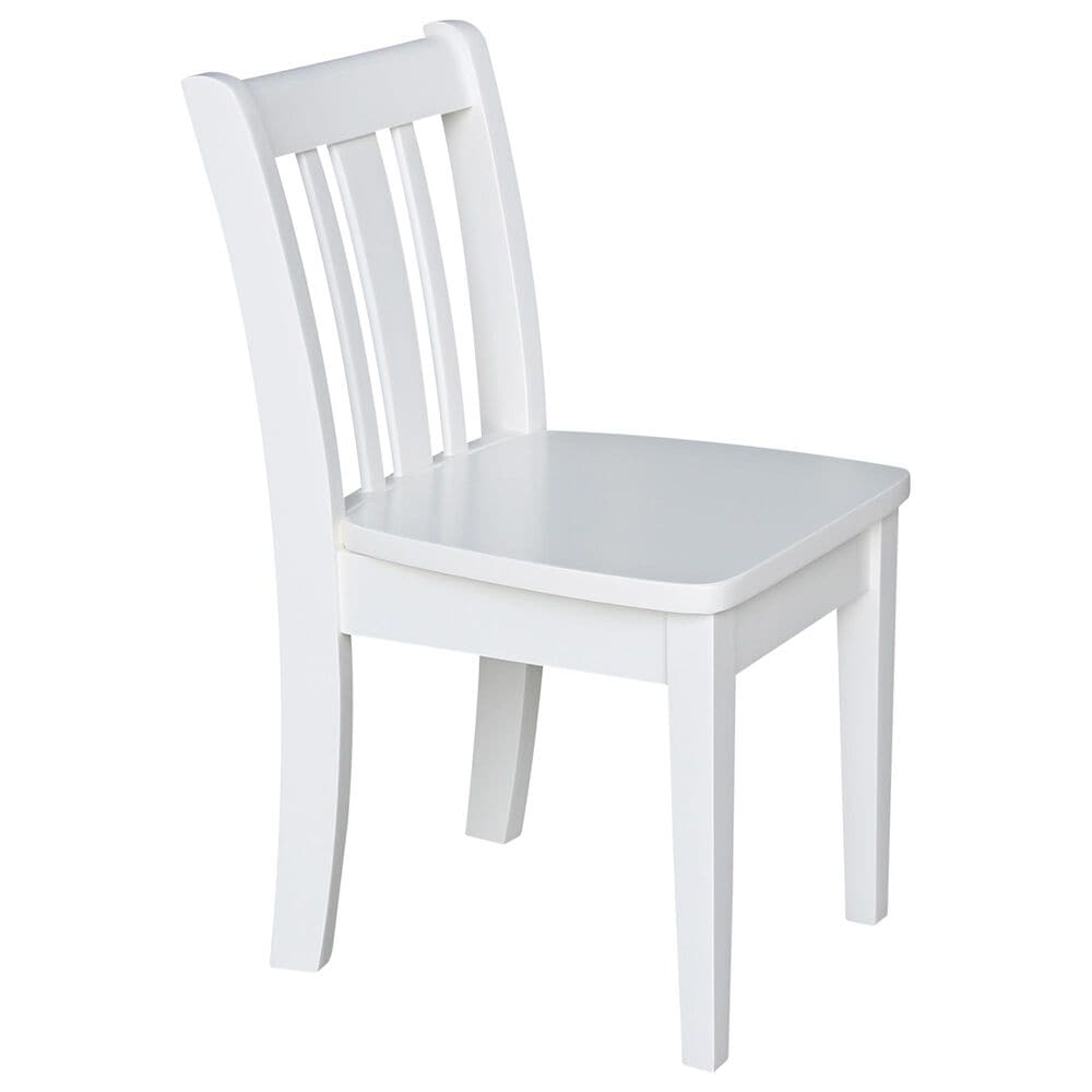 International Concepts San Remo 3 Piece Juvenile Table Set in White, , large