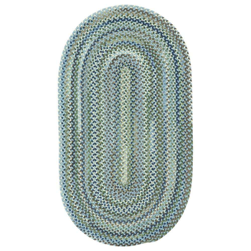 Capel Homecoming 0048-400 3' x 5' Oval Sky Blue Area Rug, , large