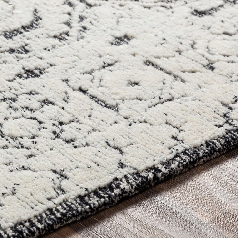 Surya Louvre LOU-2303 8' x 10' Black, Ivory and Cream Area Rug, , large
