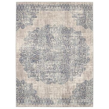 Scott Living Expressions Dharma 91672-50102 2' x 3' Indigo Scatter Rug, , large