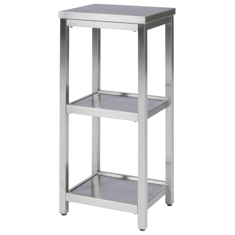 Home Styles Bold 3-Tier Bath Shelf in Stainless Steel, , large