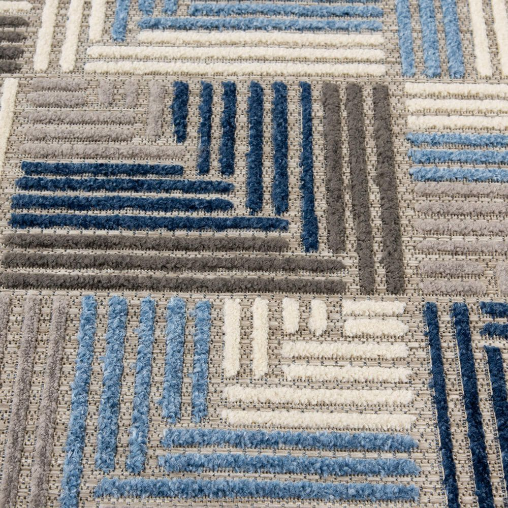 "Central Oriental Fontana Haldis 1654.61 3'1"" x 5'3"" Gray and Blue Area Rug, , large"