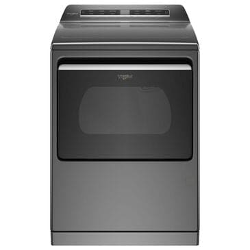 Whirlpool 7.4 Cu. Ft. Front Load Gas Dryer with Steam and Wifi in Chrome Shadow, , large