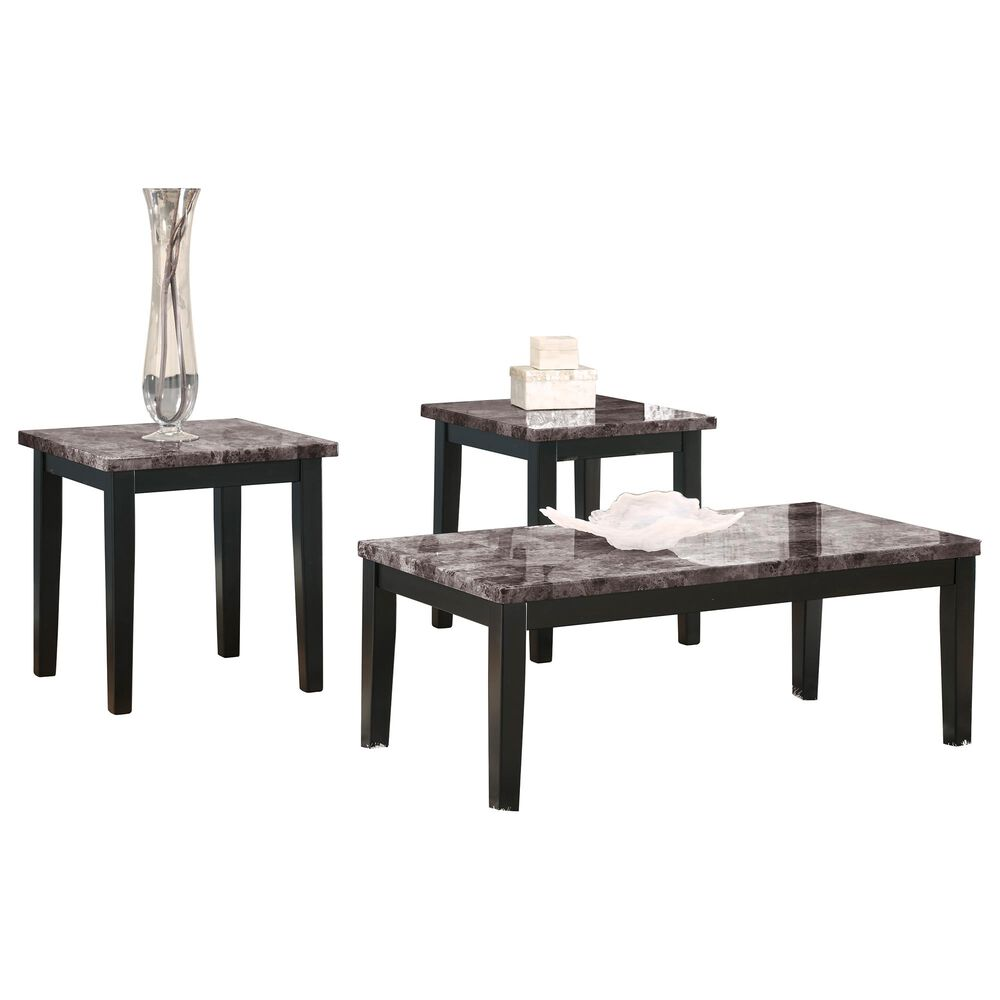 Signature Design by Ashley Maysville 3-Piece Table Set in Black, , large