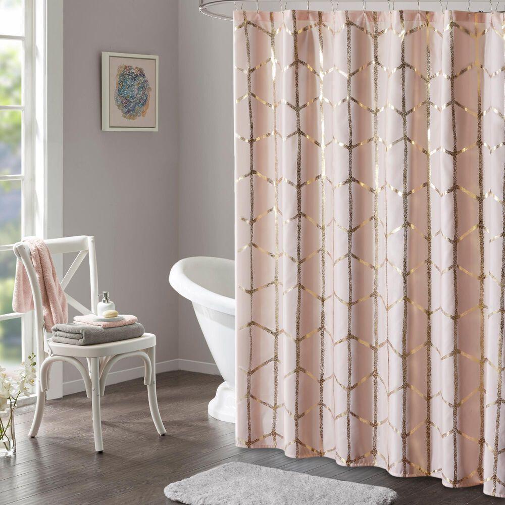 "Hampton Park Raina 72"" Shower Curtain in Blush and Gold, , large"