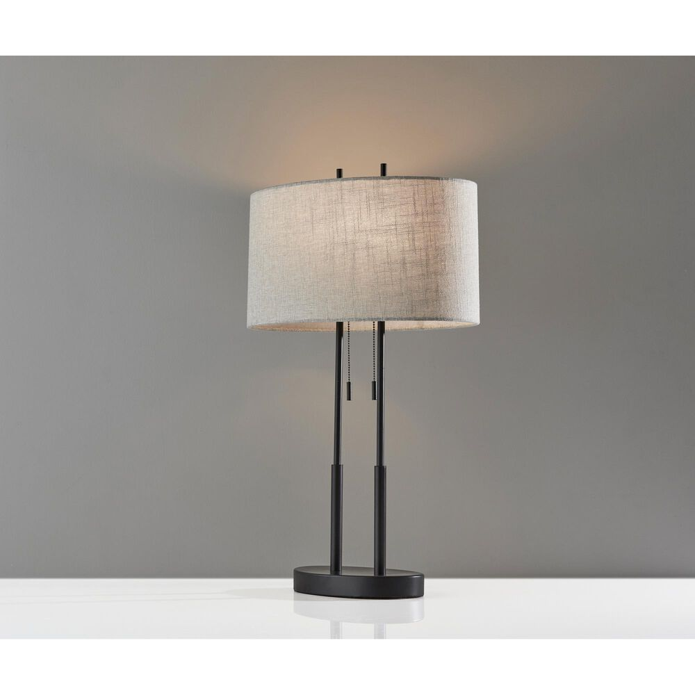 Adesso Duet Table Lamp in Antique Bronze, , large