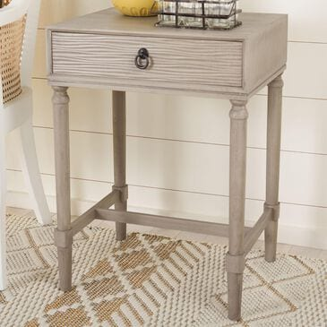 Safavieh Mabel 1-Drawer Accent Table in Greige, , large