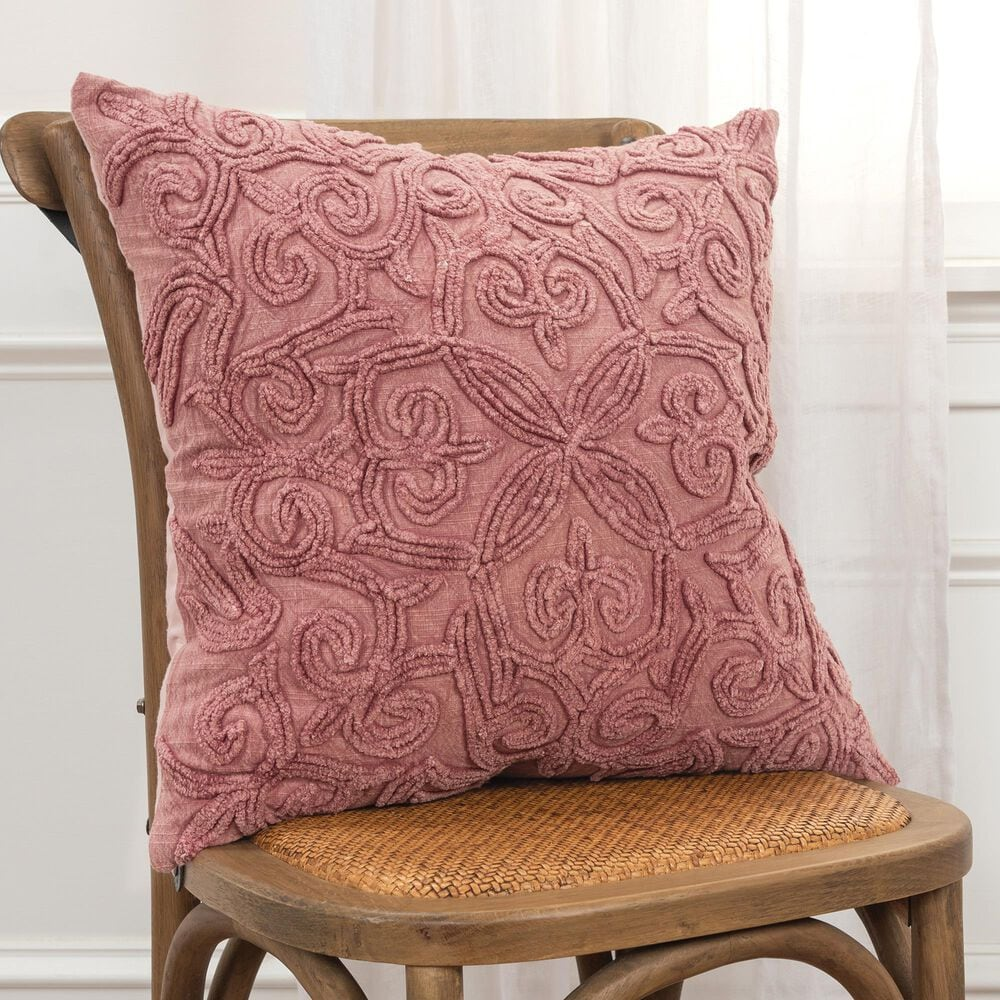 """Rizzy Home Solid 20"""" Poly Filled Pillow in Rust, , large"""
