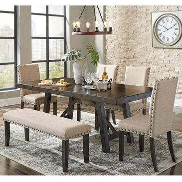 Signature Design by Ashley Rokane 6-Piece Dining Set in Light Brown, , large