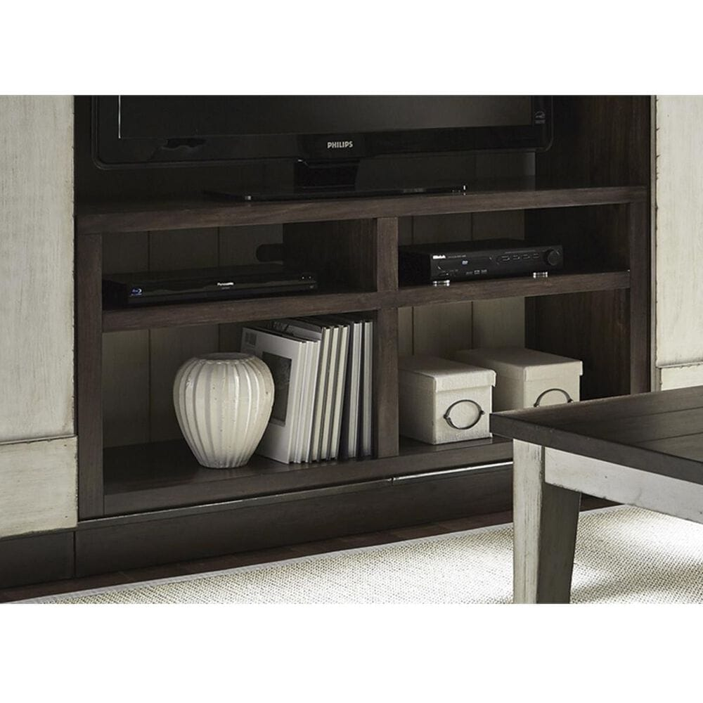 Belle Furnishings Lancaster Entertainment TV Stand in Weathered Bark, , large