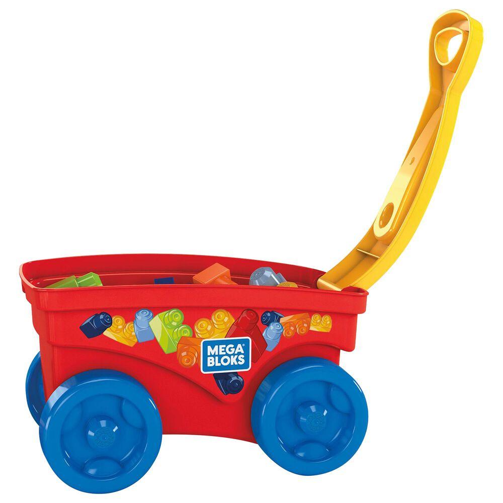 Mattel Mega Bloks Pull 'n Play Wagon, , large