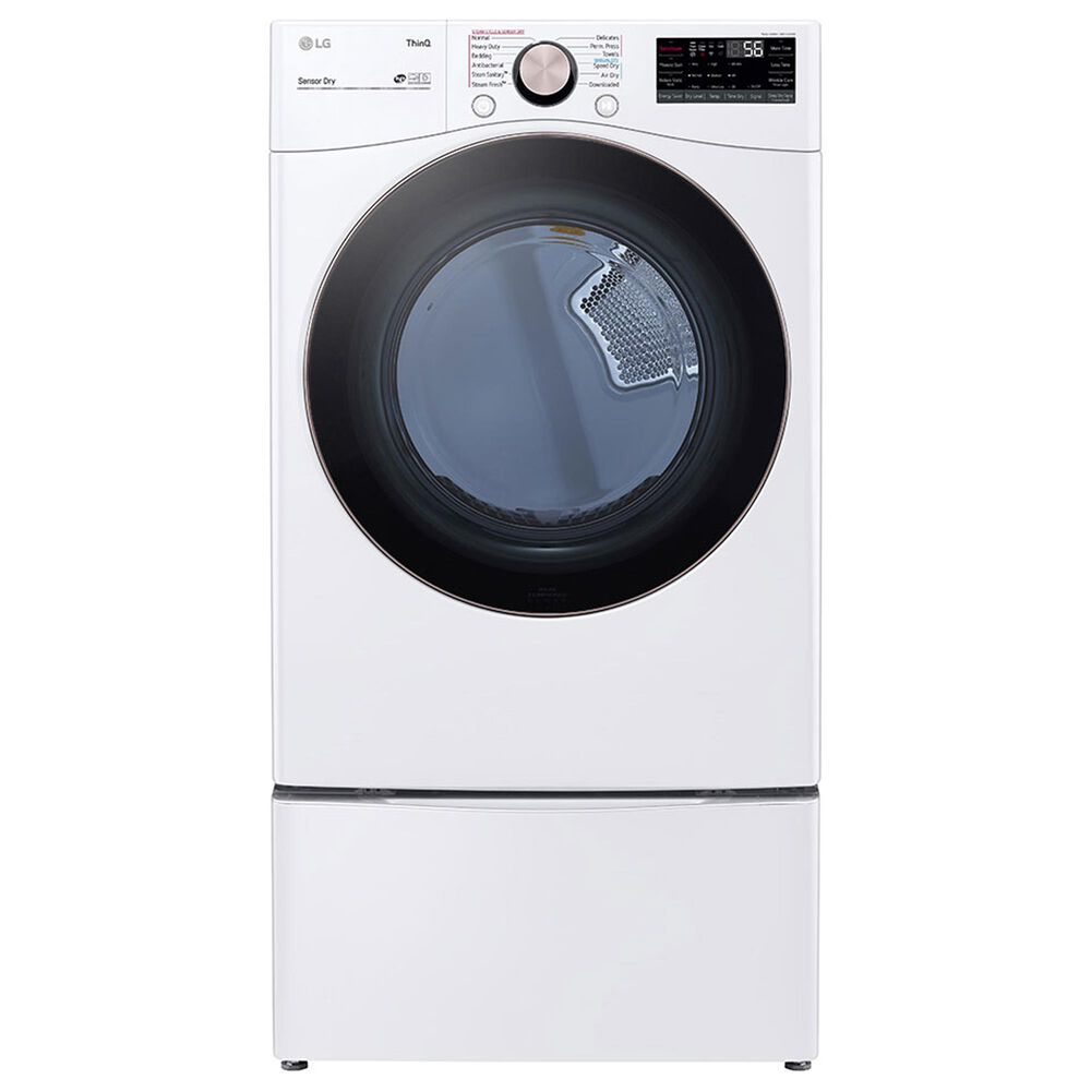 LG 7.4 Cu. Ft. Front Load Gas Dryer with TurboSteam in White, , large