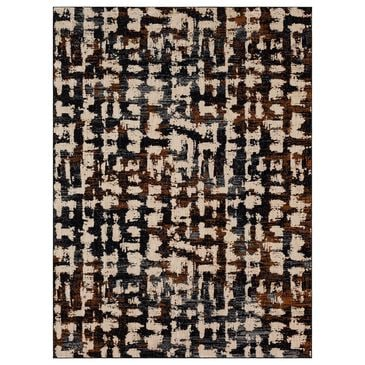 """Stacy Garcia Home Abydos 8"""" x 11"""" Soot Area Rug, , large"""