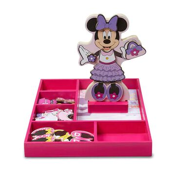 Melissa & Doug Disney Minnie Wooden Magnetic Dress-Up , , large