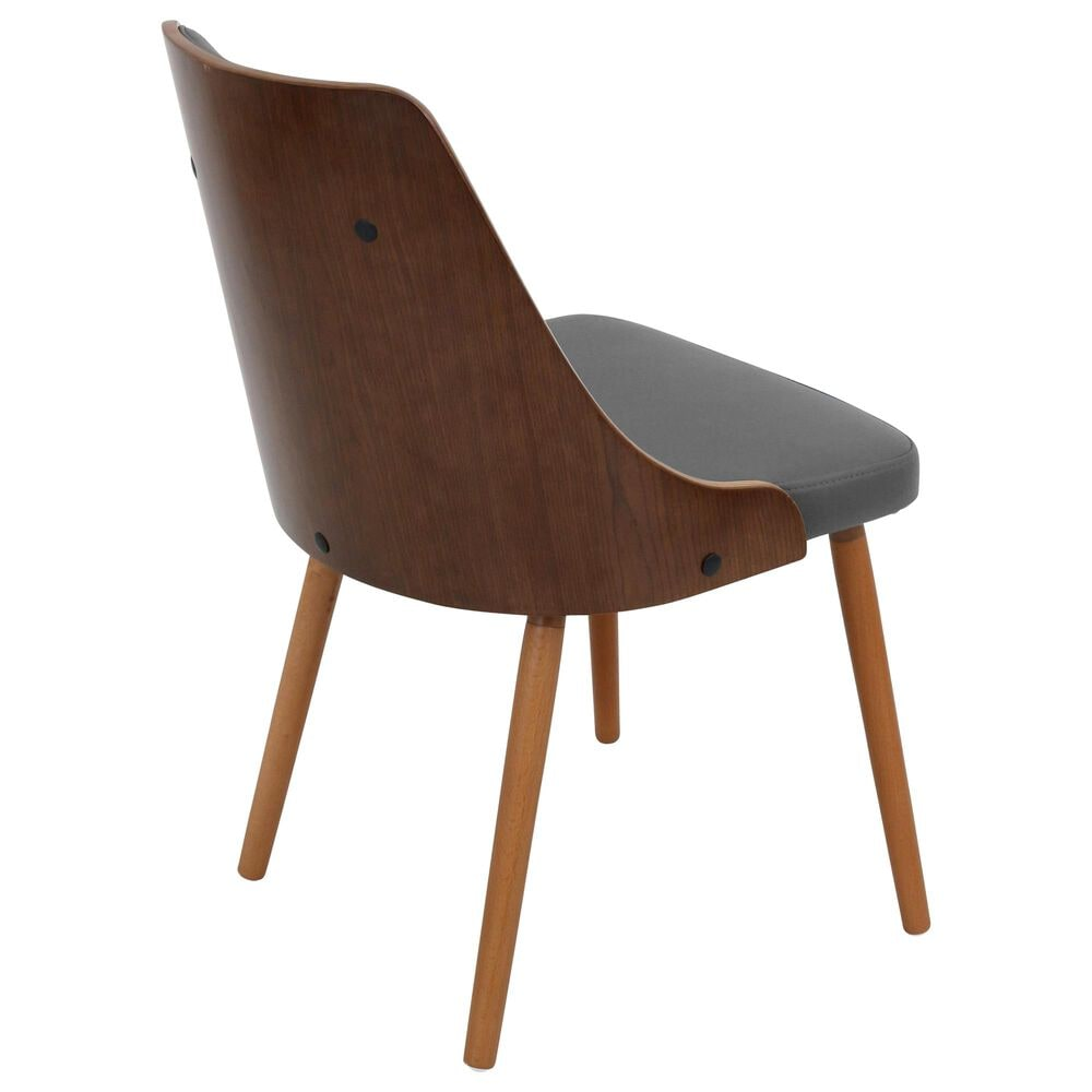Lumisource Gianna Dining Chair in Grey/Walnut, , large