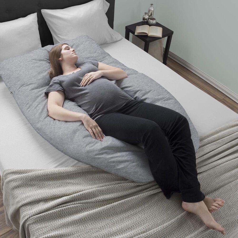 Timberlake Lavish Home U-Shaped Full Body Pillow in Gray, , large