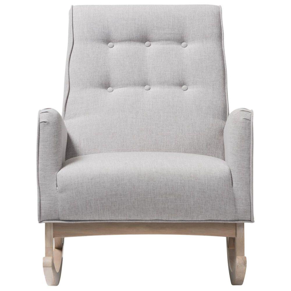Baxton Studio Marlena Rocking Chair in Greyish Beige, , large