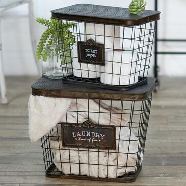 VIP Home and Garden Basket in Bronze (Set of 2), , large