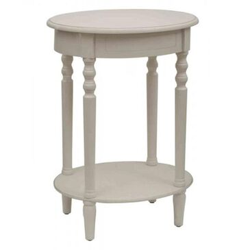 Decor Therapy Oval Accent Table in Antique White, , large