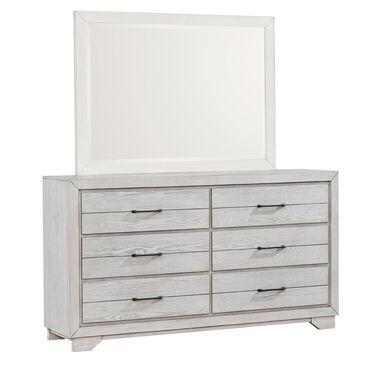 Claremont White Sands 6-Drawer Dresser in Chalk White, , large
