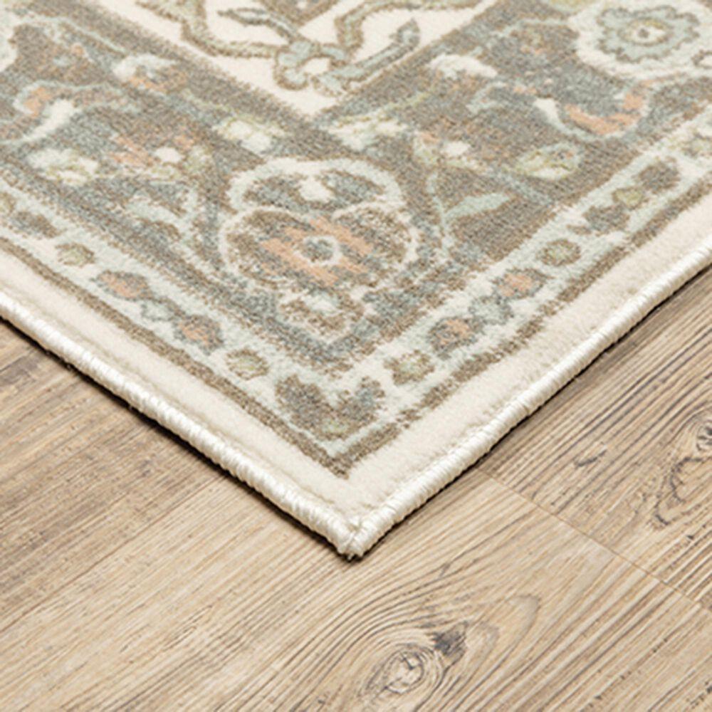 "Oriental Weavers Capistrano Medallion 511E1 6'7"" x 9'6"" Ivory and Grey Area Rug, , large"
