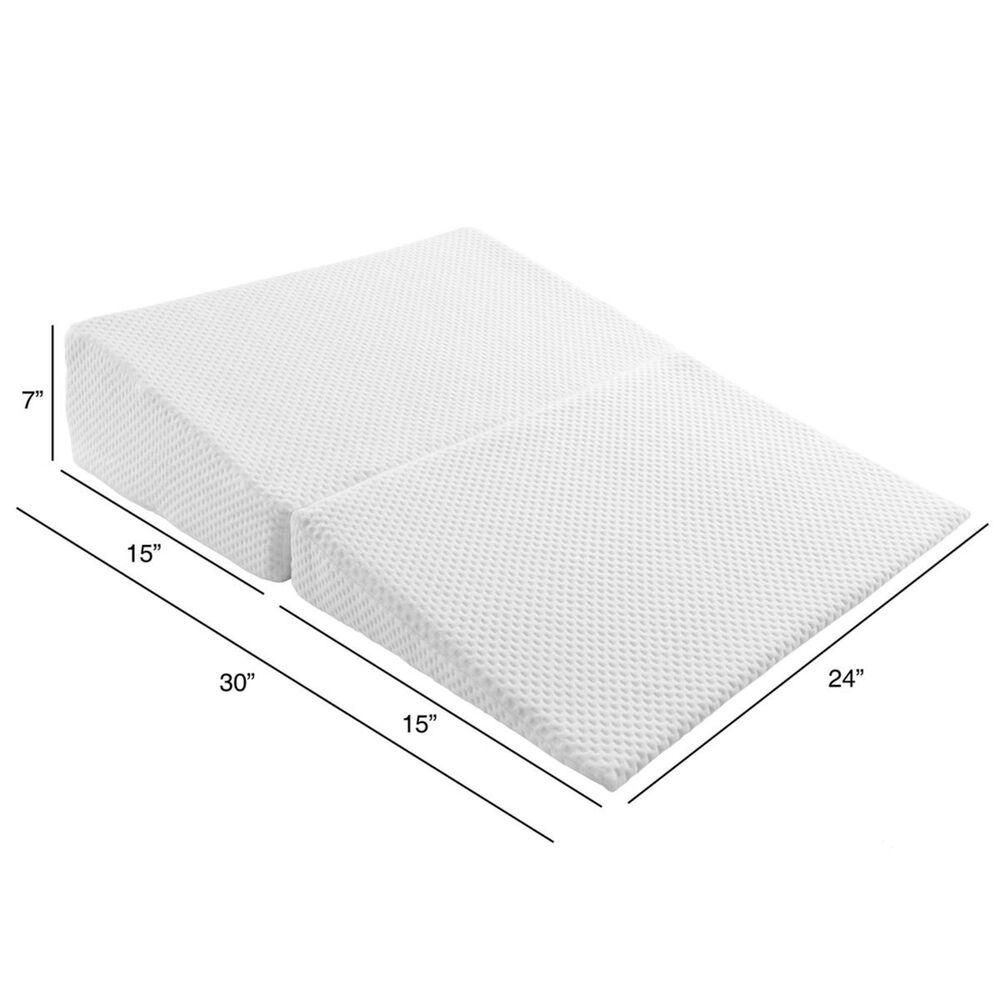 Timberlake Lavish Home Folding Wedge Memory Foam Pillow in Ivory, , large