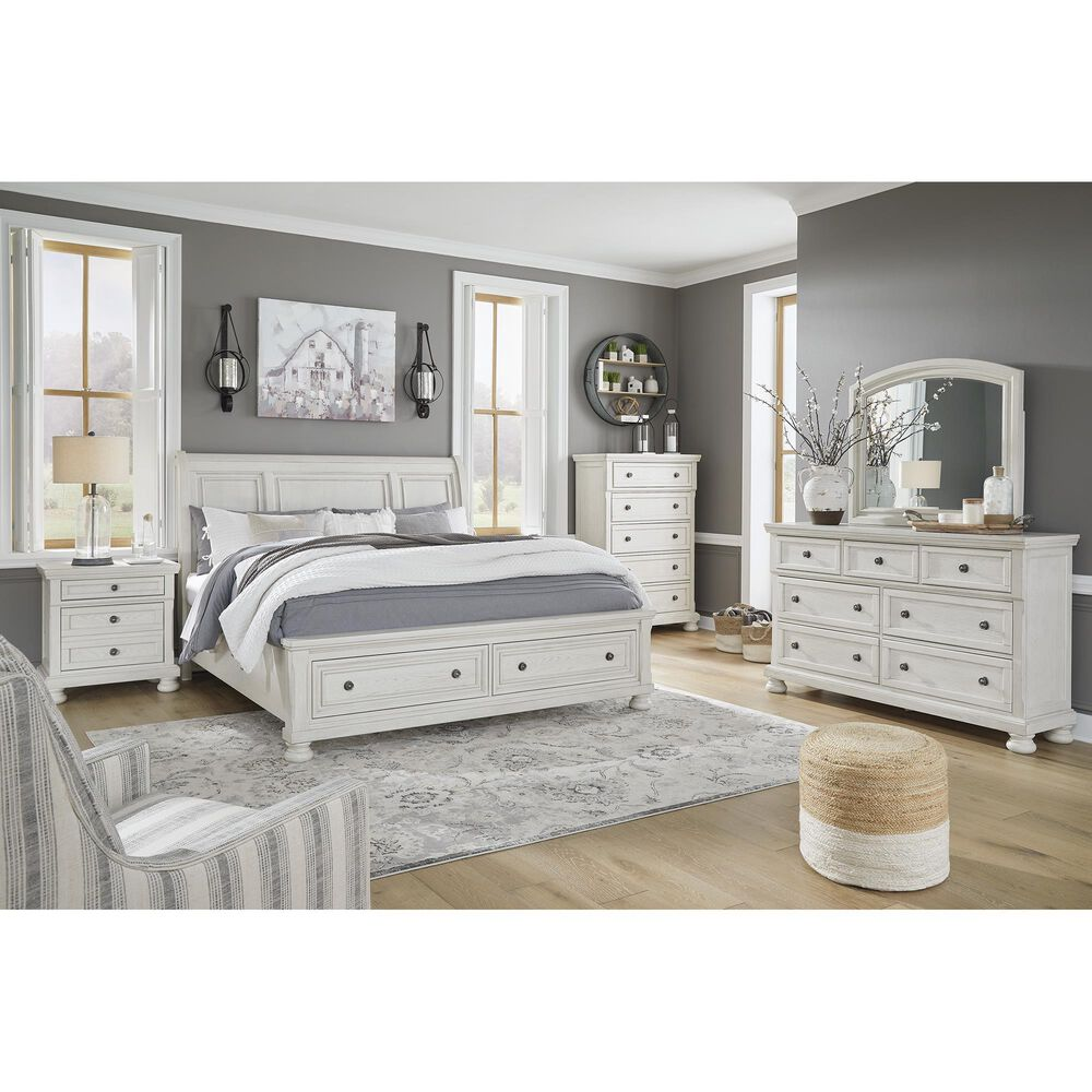 Signature Design by Ashley Robbinsdale 3 Piece Queen Bedroom Set in Antique White, , large