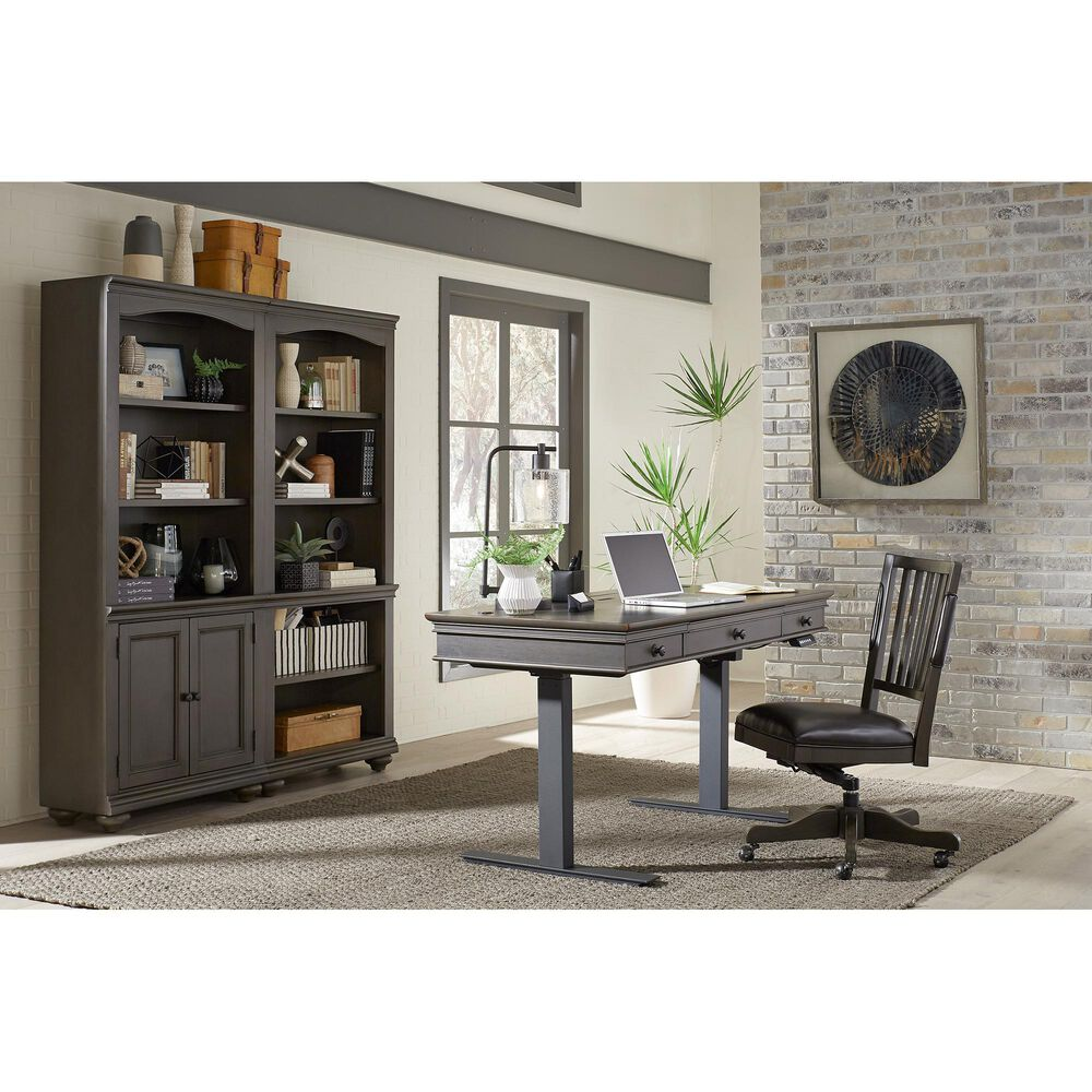 Riva Ridge Oxford Desk Chair in Peppercorn, , large