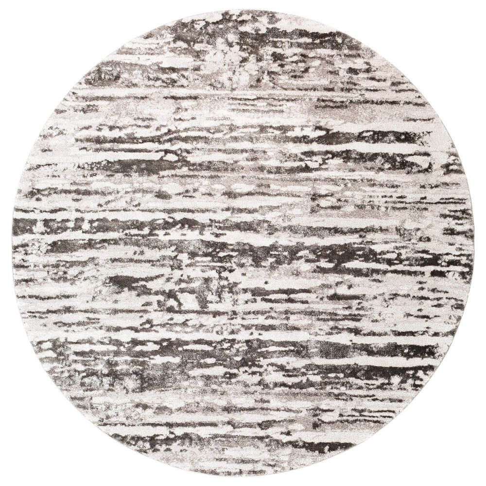 "Surya Venice VNE-2301 7'9"" Round Charcoal, Gray and Ivory Area Rug, , large"