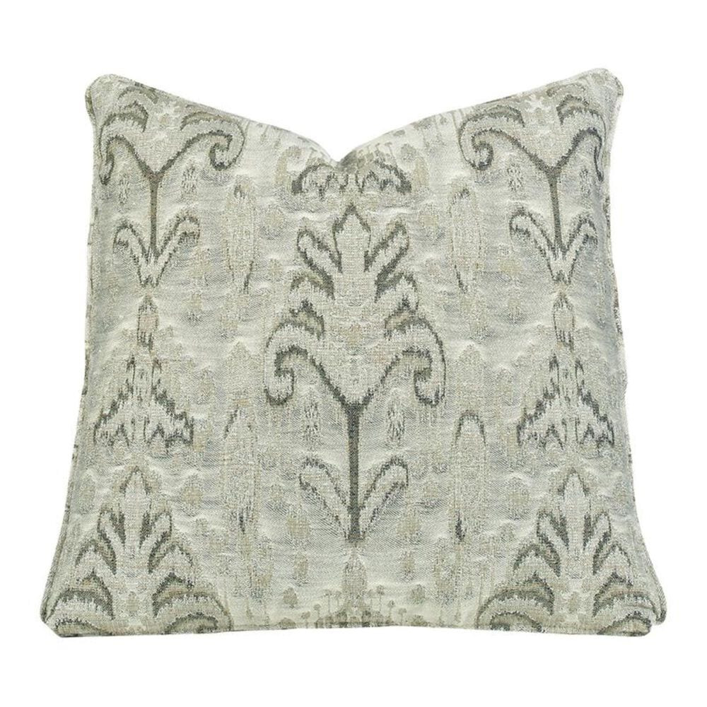 "Aria Designs 22"" x 22"" Single Toss Pillow in Gray Floral Pattern, , large"