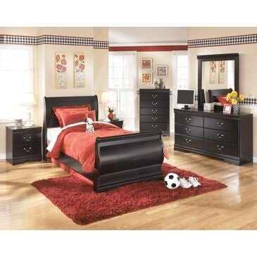 Signature Design by Ashley Huey Vineyard 4 Piece Twin Bed Set in Black, , large