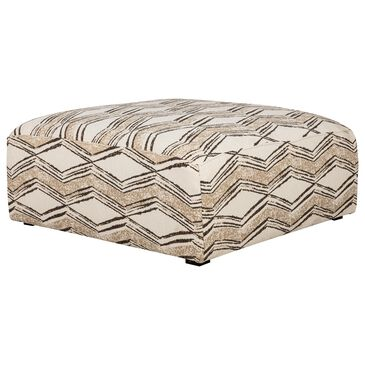Creature Comforts Houston Cocktail Ottoman in Karachi Oatmeal, , large