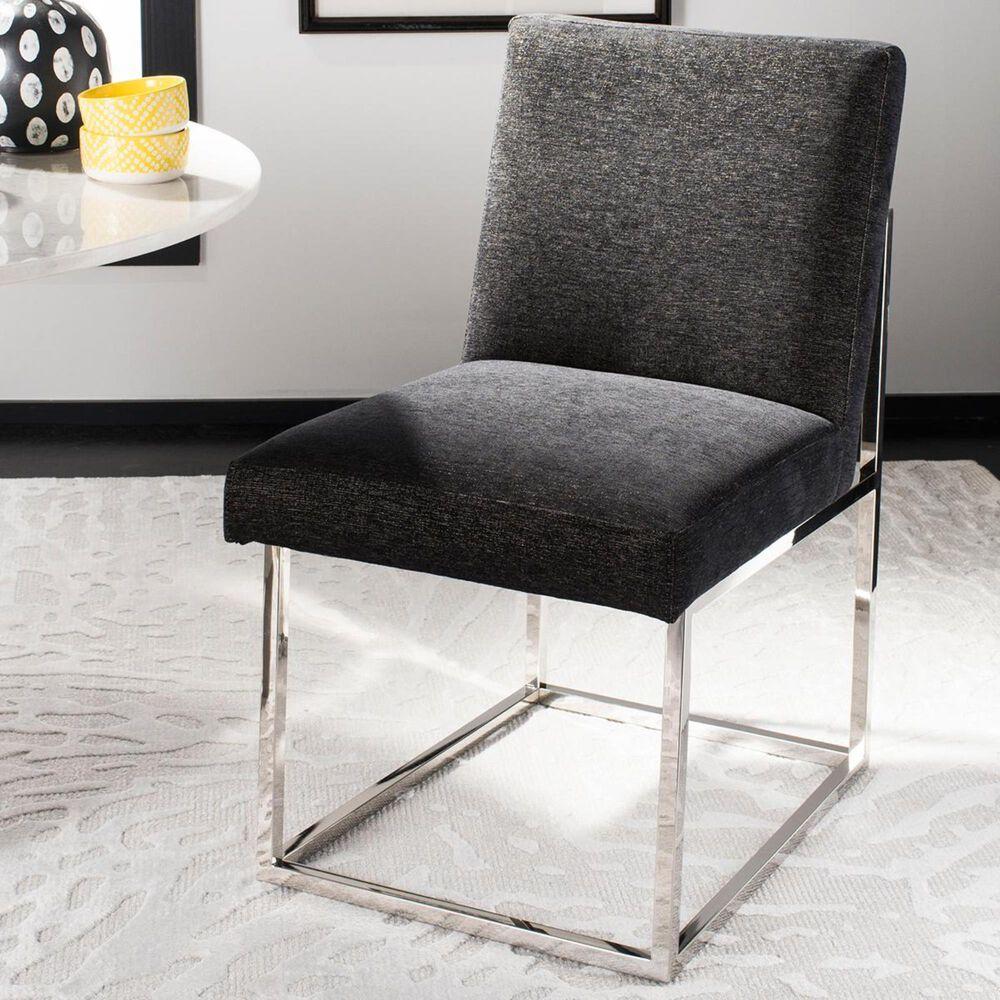 Safavieh Jenette Dining Chair in Hemingway Black Velvet, , large