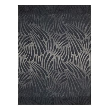 Nourison Contour CON21 5' x 7'6'' Charcoal Area Rug, , large
