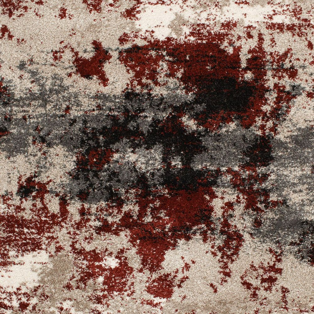Central Oriental Tulsa Brumeux 9866ND 8' x 10' Nickel and Rust Area Rug, , large