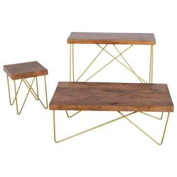 Crystal City Walter End Table in Tobacco and Brass, , large