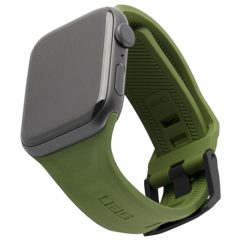 UAG Scout Silicone Watch Band for 42mm or 44mm Apple Watch in Olive, , large