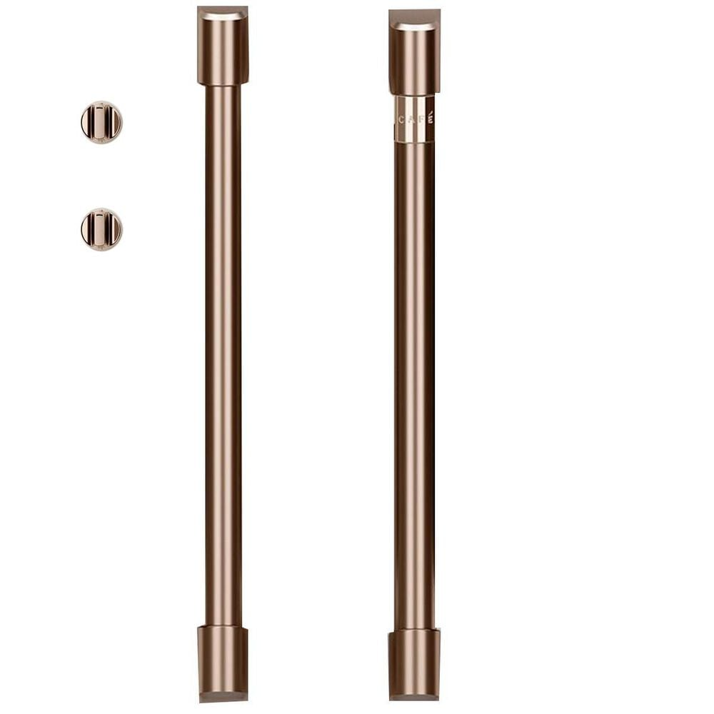Cafe Handle and Knob Kit for Single Wall Oven in Brushed Copper, , large