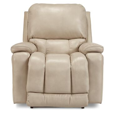 La-Z-Boy Greyson Leather Power Rocker Recliner with Headrest and Lumbar in Ice, , large
