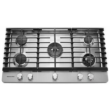 KitchenAid 36'' 5-Burner Gas Cooktop with Griddle, , large