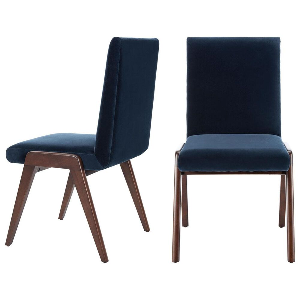 Safavieh Forrest Dining Chair in Navy (Set of 2), , large