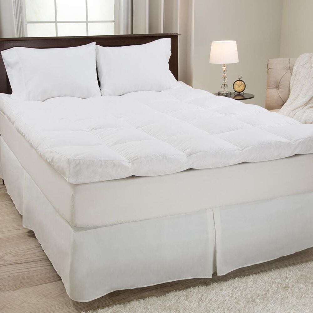 """Timberlake Down and Duck Feather Gusset 4"""" Queen Mattress Topper, , large"""