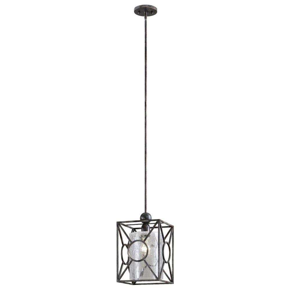 Uttermost Arbela 1 Light Mini Pendant in Black/Gray, , large