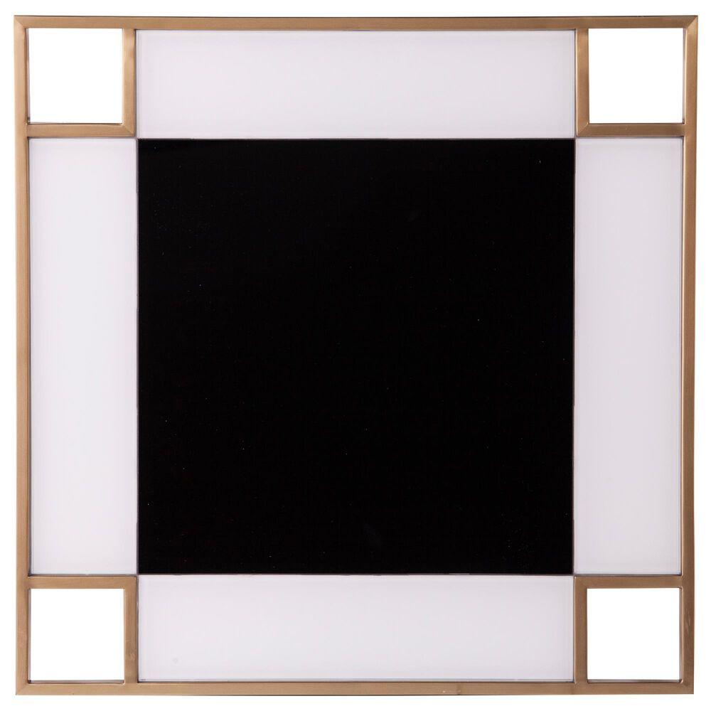 Southern Enterprises Magdalere End Table in Gold/Black/White, , large