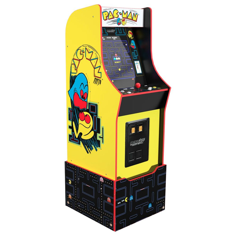 Arcade1up 4 Bandai Pac-Man Legacy Edition Arcade Game with Riser, , large
