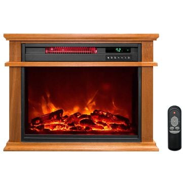 Almo Distributing LifeSmart Traditional Infrared Fireplace Heater, , large