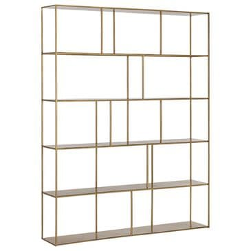 Sunpan Trading & Importing Eiffel Extra Large Bookcase in Antique Brass, , large